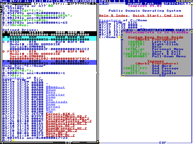 Virtio-blk Loadable Device Driver for TempleOS